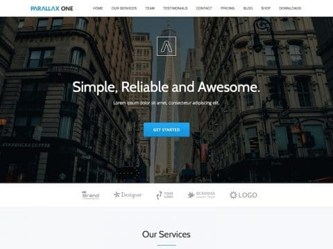 Parallax One WordPress Theme