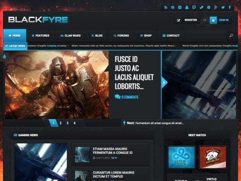 Blackfyre WordPress Theme