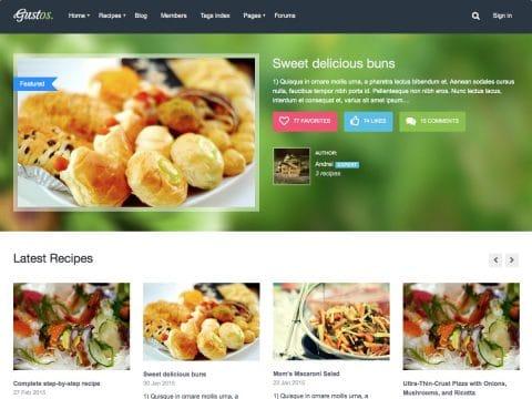 Gustos WordPress Theme
