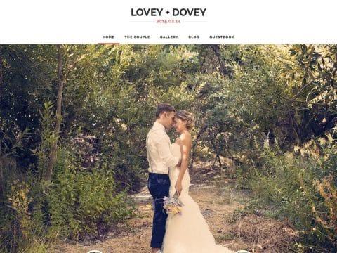 Lovey Dovey WordPress Theme