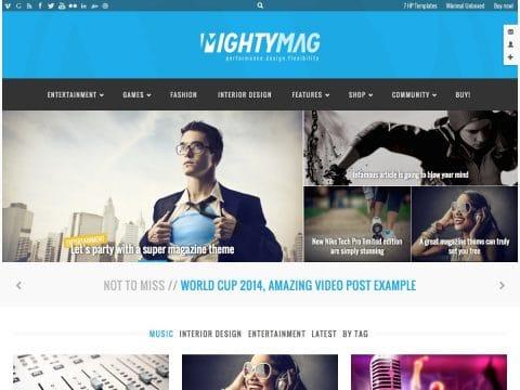 MightyMag WordPress Theme