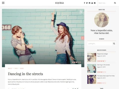 Mona WordPress Theme