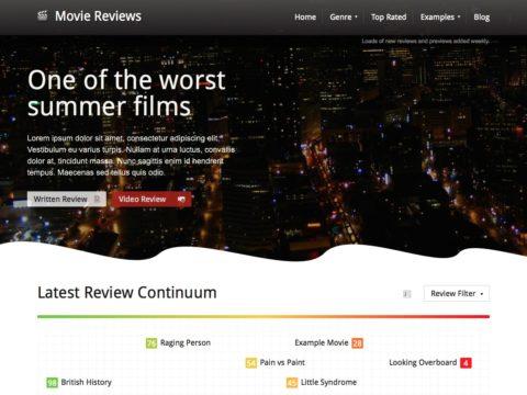 Movie Reviews WordPress Theme