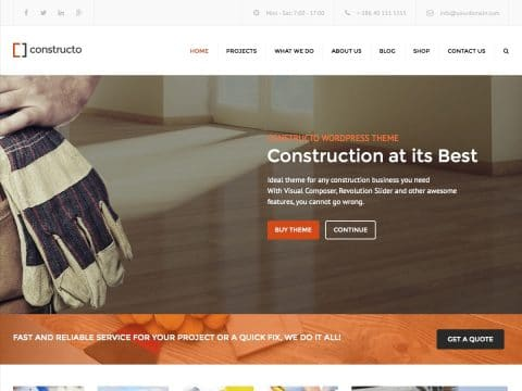 Constructo WordPress Theme