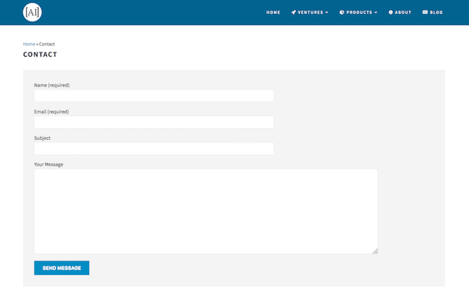 Array Internet Contact Page