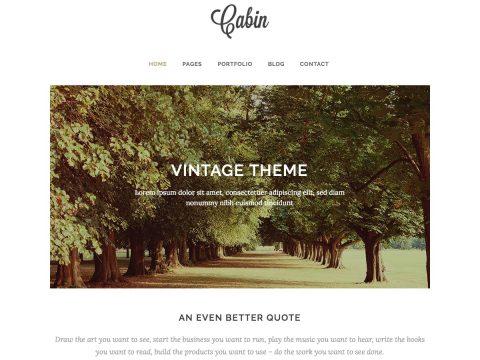 Cabin Vintage WordPress Theme