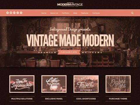 Modern Vintage WordPress Theme