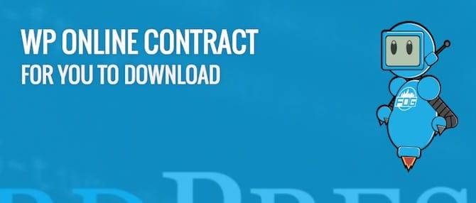 WordPress Online Contract