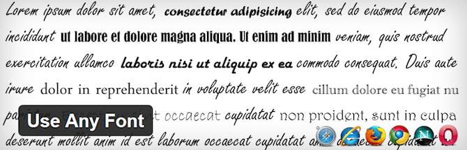 Use Any Font