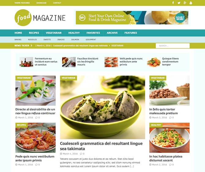MH Magazine - Food Blog