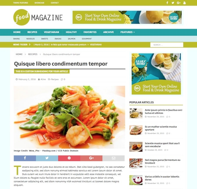 Food blogger how to create a food blog or recipe website with wordpress mh magazine food forumfinder Image collections