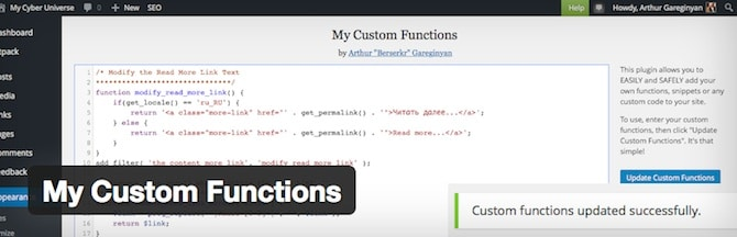 My Custom Functions