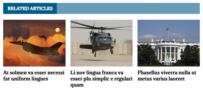Related Articles Feature