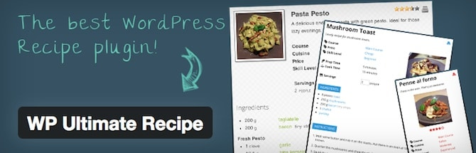 WP Ultimate Recipe Plugin