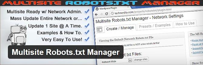 Multisite Robots.txt Manager
