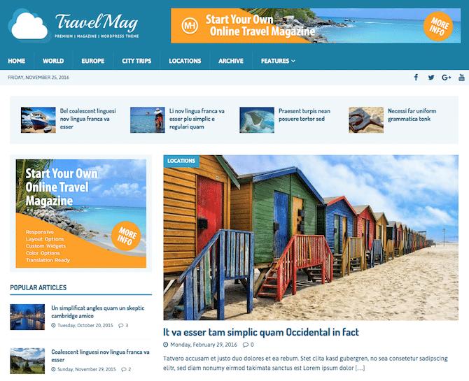 Travel Website with WordPress