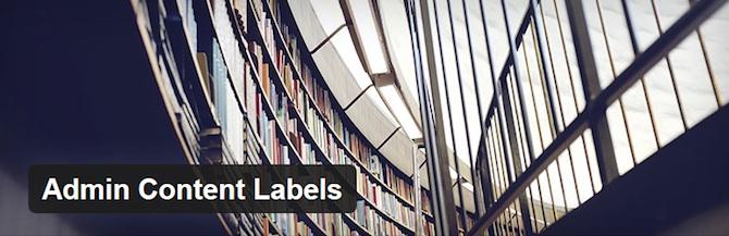Admin Content Labels