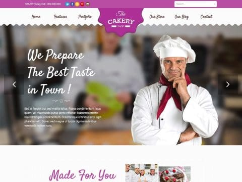Cakery WordPress Theme