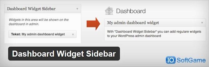 Dashboard Widget Sidebar