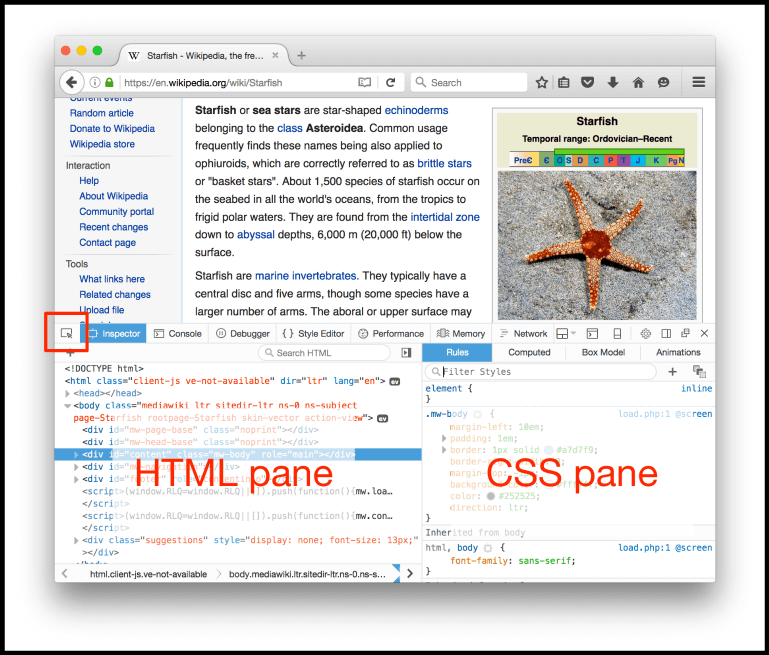 Firefox Inspector Overview