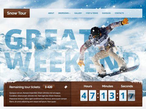 Snow Tour WordPress Theme