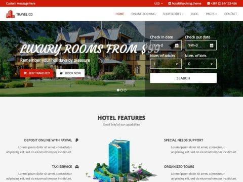 Travelico WordPress Theme