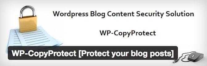 WP CopyProtect Plugin