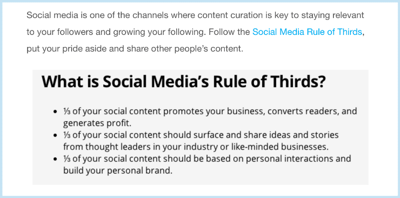 Content Curation Rules