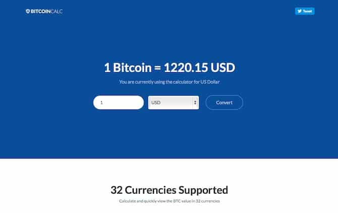Bitcoin Calculator