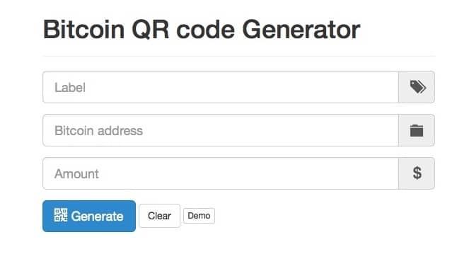 Bitcoin QR Code Generator
