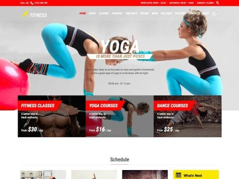 Gym Fit WordPress Theme