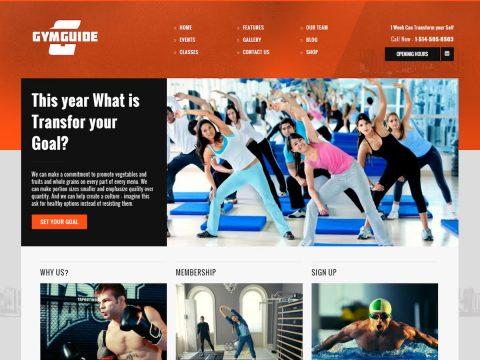 Gym Guide WordPress Theme