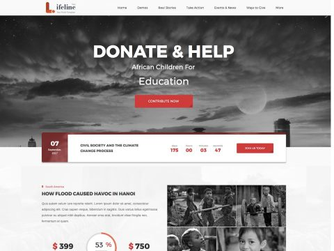 Lifeline 2 WordPress Theme