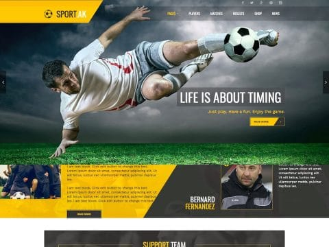 SportAK WordPress Theme