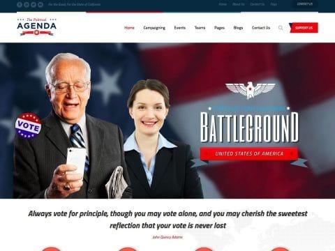 Agenda Political WordPress Theme