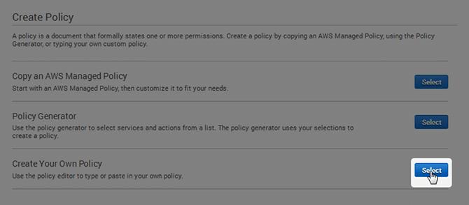 Create AWS Policy