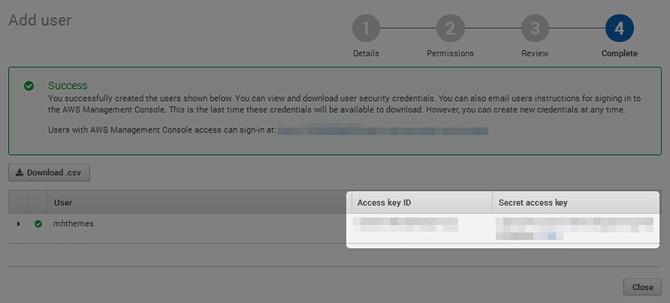 IAM User Secret Access Keys