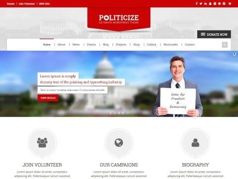 Politicize Political WordPress Theme
