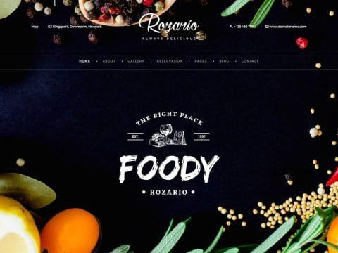 Rozario Restaurant WordPress Theme