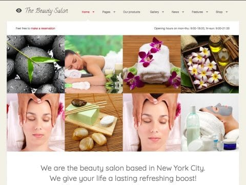 The Beauty Salon WordPress Theme