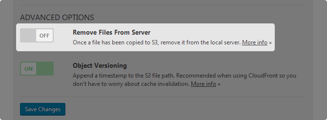 WP Offload S3 lite Remove Files from Server