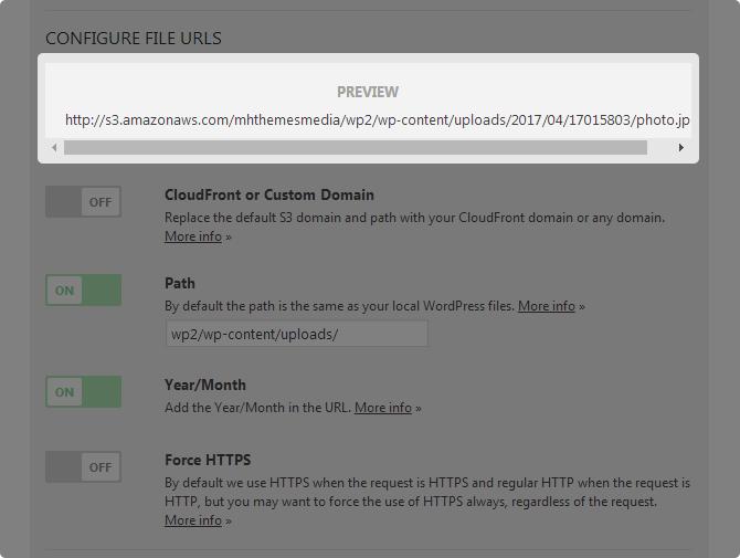 WP Offload S3 lite URL