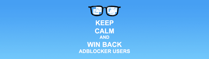 Win back adblocker users