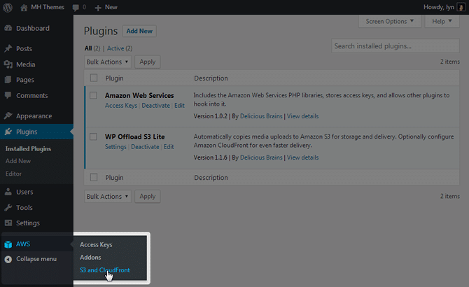 WordPress AWS S3 Cloudfront