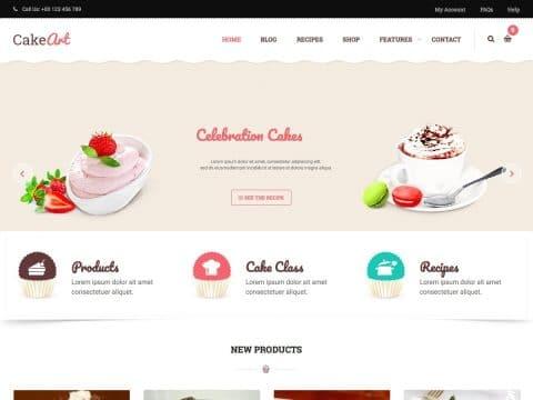 Cake Art Business WordPress Theme