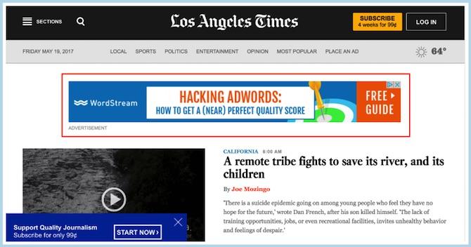 LA Times Header