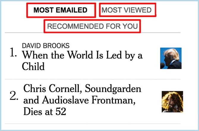 NY Times Tabbed Section