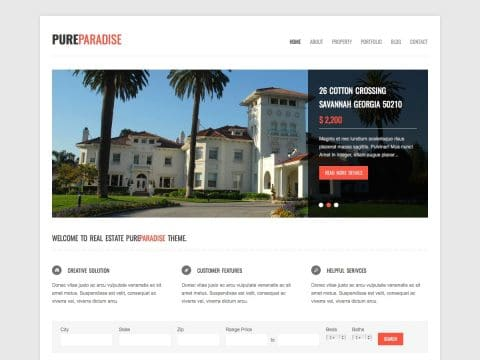 PureParadise WordPress Theme