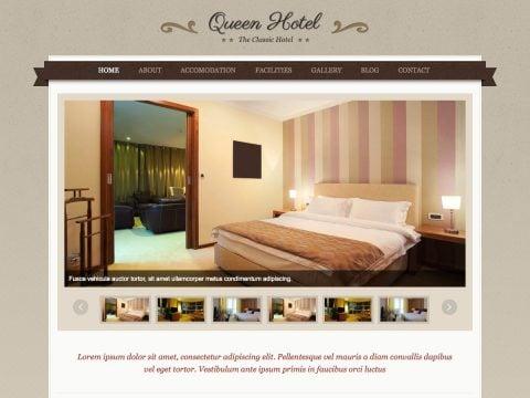 Queen Hotel WordPress Hotel