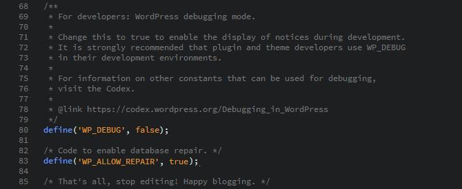 Enable Database Repair